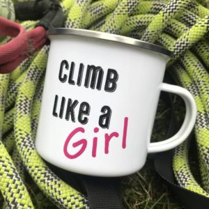 Emaille Tasse Climb like a Girl